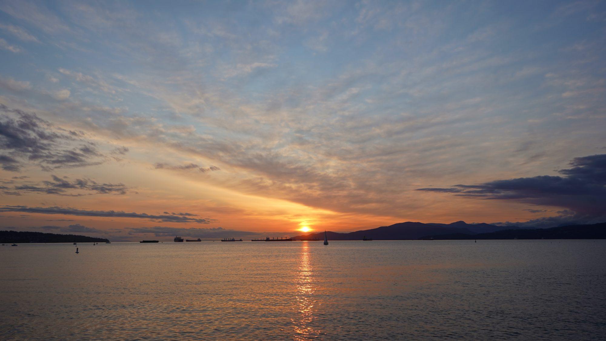Sunset in English Bay