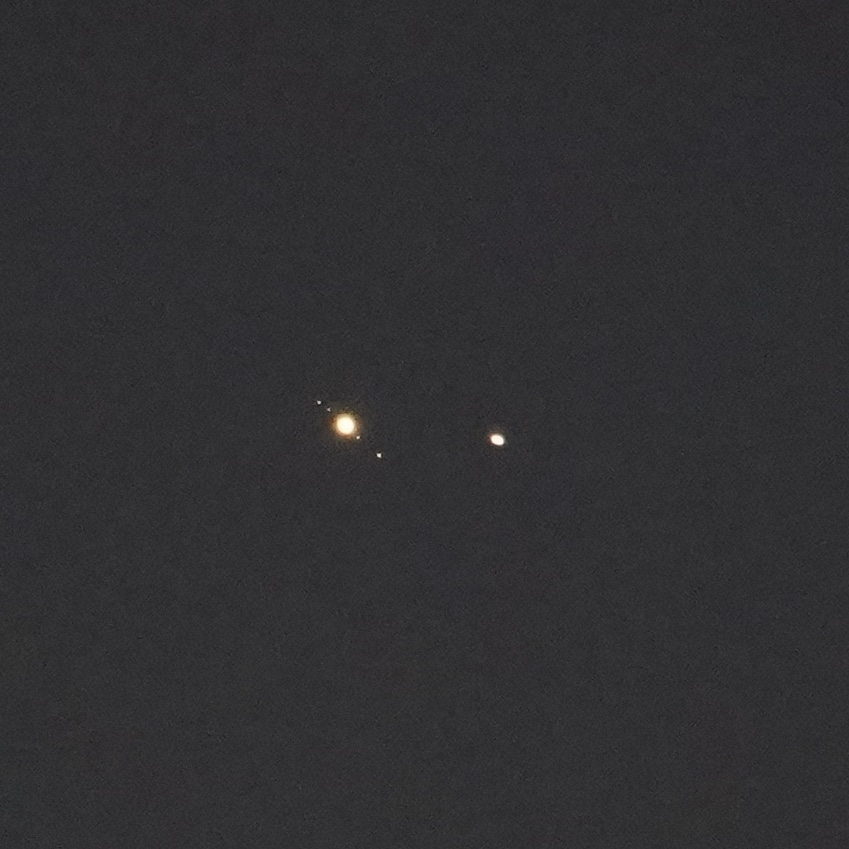Jupiter and Saturn conjunction